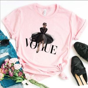 """Chic Pink """"VOGUE"""" T-shirt"""